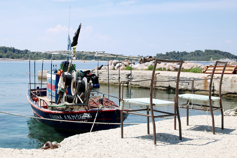 Ein Boot im Meer