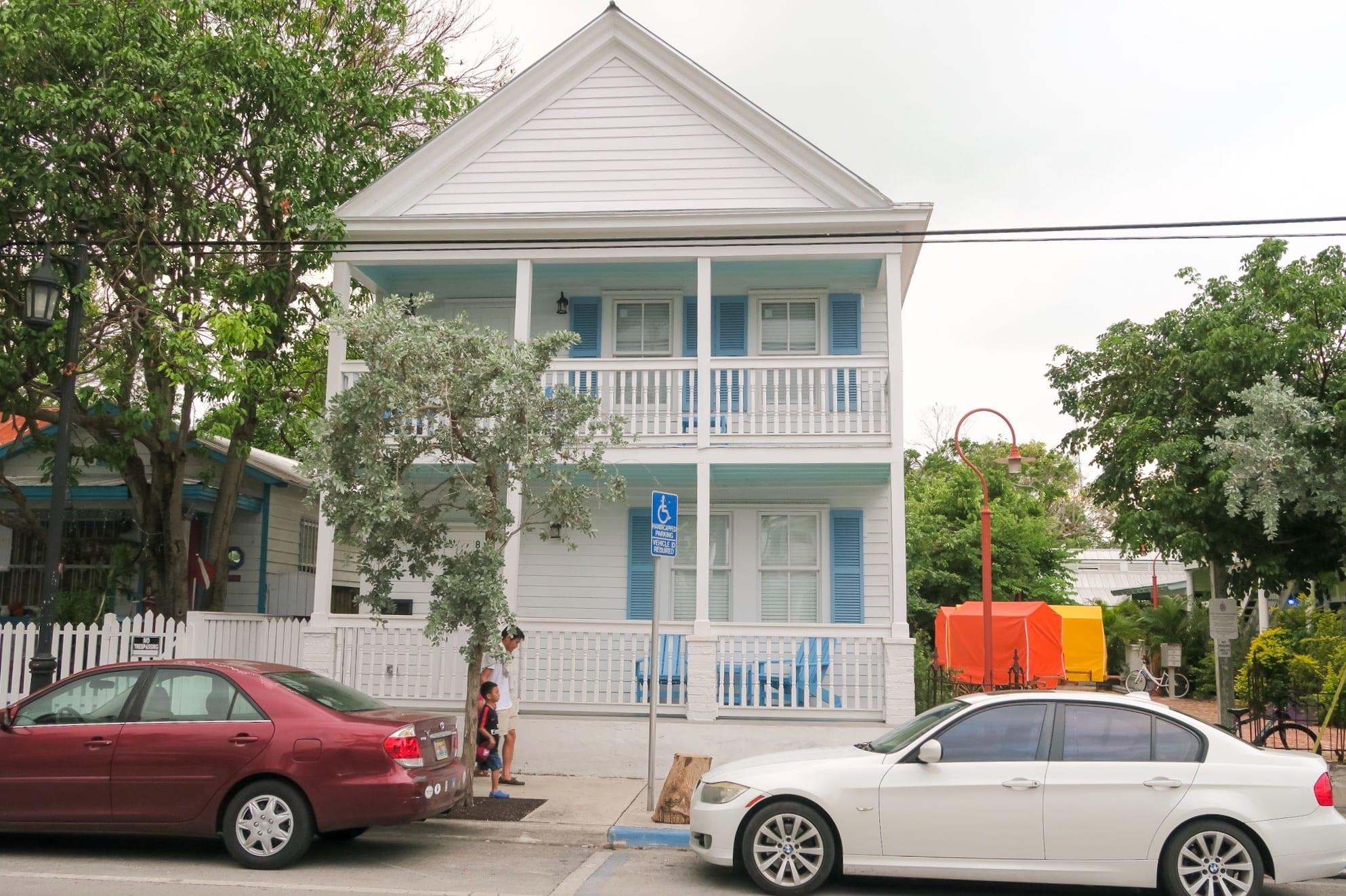 bunte Häuser auf Key West