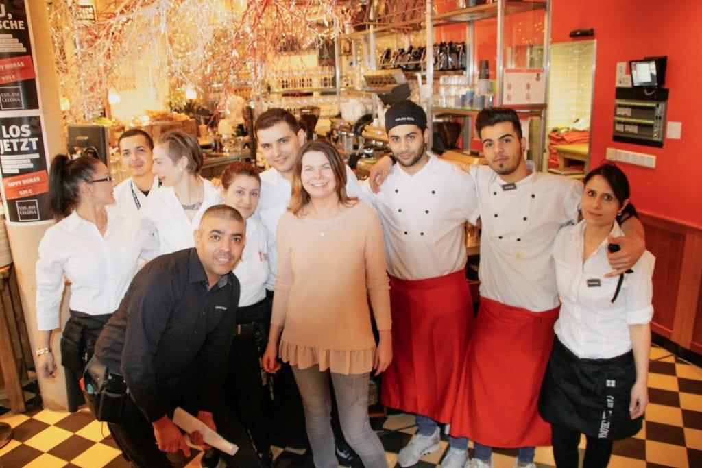 Frau Schirra bloggt mit dem Team von Cafe Bar Celona