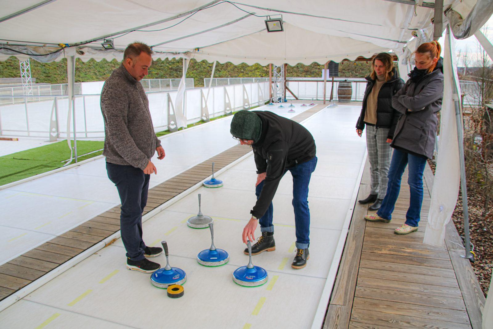 Eisstockschießen Erlebnispark Saarland