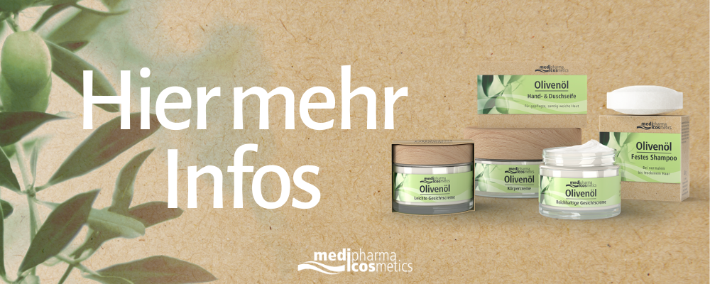 Olivenöl-Pflegeserie von medipharma cosmetics