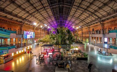 Atocha – Palmen  im Hauptbahnhof von Madrid